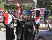 """بالفيديو والصور.. زغاريد بـ""""مصطفى محمود"""" احتفالا بذكرى عيد تحرير سيناء"""