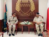 القائد العام البحرينى يستقبل وفداً عسكرياً من كلية القادة والأركان المصرية