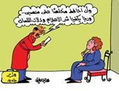 الوزراء الجدد يخشون الوقوع فى مصيدة الإعلام بكاريكاتير اليوم السابع