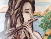 بالصور.. قارئة تشارك بلوحات فنية تبرز موهبتها فى الرسم بالفحم والرصاص