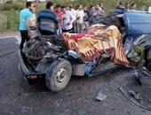 مصرع شخص فى حادث تصادم سيارتين بطريق مصر أسوان