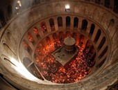 سقوط جزء من سقف كنيسة القيامة بالقدس دون إصابات فى صفوف المصلين