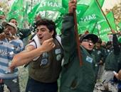 بالصور.. استمرار الإحتجاجات ضد سياسة التقشف فى الأرجنتين