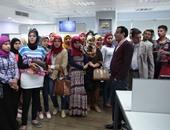 طلاب إعلام جامعة جنوب الوادى بقنا يزورون مقر اليوم السابع