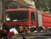 الحماية المدنية بالجيزة تسيطر على حريق فى محل عصائر بالعياط دون إصابات