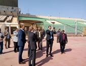 طاقم تحكيم مباراة المصرى وجرين بافالوز يجرى أول تدريباته فى بورسعيد