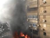السيطرة على حريق داخل معرض سيارات فى المهندسين دون إصابات