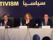 بدء المؤتمر الصحفى لمحمد فهمى بدقيقة حداد على أرواح شهداء الصحافة