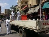 شرطة المرافق تواصل حملاتها لإزالة الإشغالات بالمنطقة الأثرية فى الهرم