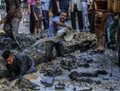 بالفيديو والصور.. شاهد عيان: أعمال حفر تسببت فى كسر ماسورة الغاز بعين شمس