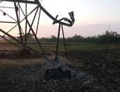 مجهولون يفجرون برج كهرباء بقرية أبشواى الملق بمحافظة الغربية