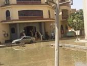 """""""واتس آب اليوم السابع"""": مياه المجارى تحاصر المستشفى العام فى سوهاج"""