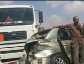 ارتفاع وفيات حادث تصادم سيارتين بطريق الواحات بأكتوبر إلى 10 أشخاص