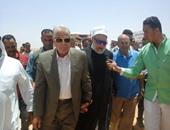 وزير الزراعة وعلى جمعة يضعان حجر أساس مزرعة نموذجية بطور سيناء
