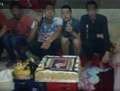 """""""واتس آب اليوم السابع"""":محتجزون بقسم حدائق القبة يحتفلون بعيد ميلاد زميلهم"""