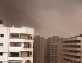 """سكان حى الواحة بمدينة نصر يستغيثون من حرائق القمامة عبر""""واتس آب اليوم السابع"""""""