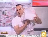 بالفيديو.. جابر القرموطى يقدم مانشيت من داخل الثلاجة بسبب درجة الحرارة