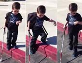 طفل كفيف فى الرابعة يتحدى إعاقته ويلقب بأصغر دارس للموسيقى فى أمريكا