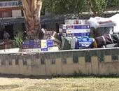 اليوم السابع ترصد عودة الفوضى لميدان المحطة بأسوان