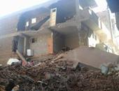 انهيار عقار من 4 طوابق فى المنيا بعد اخلائه من السكان