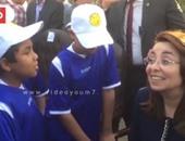 """بالفيديو..وزيرة التضامن تداعب الأطفال خلال إطلاق مبادرة """"لعيبة بلدنا"""""""