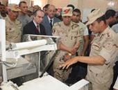 """قائد المنطقة المركزية العسكرية: مخبز """"مليونى"""" بكرداسة بتكلفة 4 ملايين جنيه"""