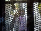 وصول محمود عامر والمتهمين بحرق نقطة شرطة البراجيل إلى محكمة الجنايات