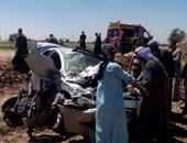 مصرع شخصين وإصابة 8 آخرين فى انقلاب سيارة على الصحراوى الغربى بالمنيا