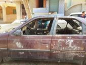 ضبط سائق لاشتراكه مع آخر فى حرق سيارة انتقاما من مالكها بسبب خلافات بالخليفة