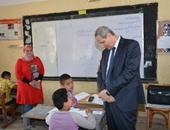 وزير التربية والتعليم ومحافظ المنوفية يضعان حجر الأساس لمدرستين بأرض المشتل
