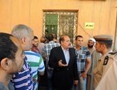 مدير أمن الفيوم ينتقل لموقع حادث استشهاد رئيس مباحث طامية لمعاينة الحادث