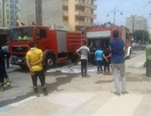تلفيات بـ4 محلات نتيجة انفجار خط غاز بأحد المطاعم بالمحلة