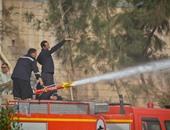 السيطرة على حريق اشتعل فى 4 سيارات داخل جراج بحدائق الأهرام