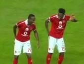 """بالفيديو ..وصلة رقص """"أفريقية """" بين إيفونا وأنطوى بعد الفوز على الإنتاج"""