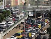 كثافات مرورية بسبب أعطال متكررة لسيارات ملاكى أعلى كوبرى أكتوبر