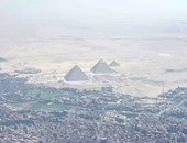 """الخارجية الأمريكية تنشر صورة لأهرامات الجيزة من طائرة """"كيرى"""" قبل لقاء الرئيس"""