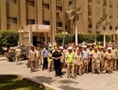 صحافة المواطن: بالصور.. اعتصام مفتوح لعمال شركة أسمنت بحلوان