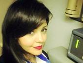 بالصور.. مضيفة الطائرة المنكوبة تتنبأ بنهاية حياتها على فيس بوك