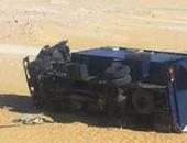 النيابة تحقق فى مصرع شرطى وإصابة متهمين بعد انقلاب سيارة ترحيلات بأبو النمرس