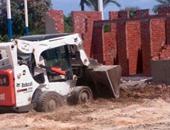 إزالة حالة تعدٍ على 400 متر على طريق دمياط - المنصورة