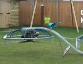 بالفيديو.. مخترع بريطانى يصنع دراجة طائرة داخل جراج منزله