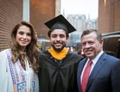 الملكة رانيا تحتفل بتخرج نجلها الأمير حسين من جامعة جورج تاون فى واشنطن