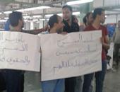 بالصور.. اعتصام عمال شركة السويس لمهمات السلامة لعدم حصولهم على المرتبات