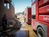 الحماية المدنية تسيطر على حريق أعلى سطح عقار فى الموسكى