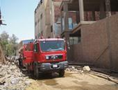 الحماية المدنية تسيطر على حريق داخل محل تنجيد فى حلوان