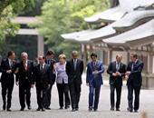 رئيس وزراء اليابان يصطحب زعماء مجموعة الـ7 لمزار دينى قبل انطلاق القمة