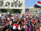 بالصور.. الأمن العراقى يطلق غاز مسيل للدموع لمنع متظاهرين من دخول المنطقة الخضراء