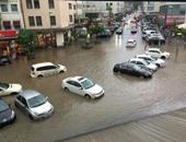 صحافة المواطن.. قارئ يشارك بصور وفيديو لغرق شوارع فرانكفورت بألمانيا بسبب الأمطار