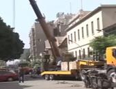 بالفيديو.. إزالة الحوائط الخرسانية بمحيط وزارة الداخلية فى لاظوغلى
