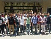 طلاب الدبلومات الفنية يتظاهرون أمام وزارة التعليم بسبب صعوبة الامتحانات